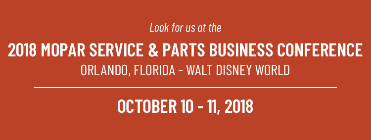2018 Mopar Service & Parts Business Conference | Customer Traac